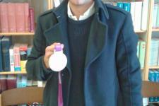 Szilágyi Áron az olimpiai aranyérmével